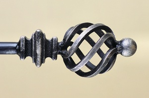 Designer Wrought Iron Curtain Poles – Bellaboar, Surrey UK